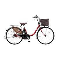 【自転車】《パナソニック》 電動アシスト自転車 VIVI ビビ・DX 26型 フレアレッドパール