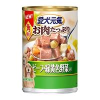 愛犬元気 缶角切りビーフ緑黄色野菜 375g