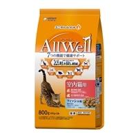 AllWell 室内猫用 フィッシュ味挽き小魚とささみ フリーズドライパウダー入り 800g