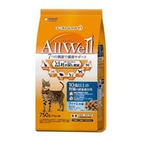 AllWell 10歳以上の腎臓の健康維持用 フィッシュ味挽き小魚とささみ フリーズドライパウダー入り 750g