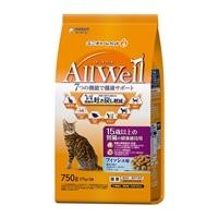 AllWell 15歳以上の腎臓の健康維持用 フィッシュ味挽き小魚とささみ フリーズドライパウダー入り 750g