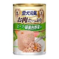 愛犬元気 缶 ビーフ&野菜入り 375g
