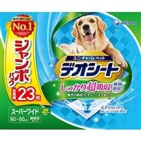 【セット商品】Pet'sOne ウェットティッシュ3個パック & デオシート無香消臭タイプスーパーワイド23枚