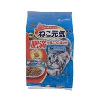 ねこ元気 肥満が気になる猫用まぐろ・野菜・カツオ・白身魚・チキン入り2.0kg