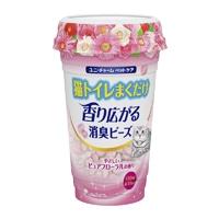 猫トイレまくだけ香り広がる消臭ビーズやさしいピュアフローラルの香り450ml