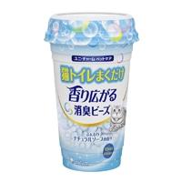 猫トイレまくだけ香り広がる消臭ビーズふんわりナチュラルソープの香り450ml