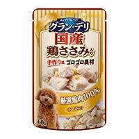 【数量限定】グラン・デリパウチ成犬チーズ・鶏ささみ60g