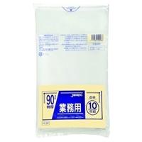 【ケース販売】PL98 重量物対応袋 90L 透明 100枚(10枚入×10冊)【別送品】