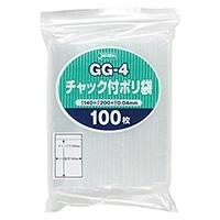 チャック付きポリ袋(G) 100P GG-4