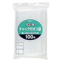 チャック付きポリ袋(I)100P IG−4