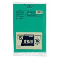 【ケース販売】CCG45 業務用カラーポリ袋 45L 緑 600枚(10枚×60冊)【別送品】