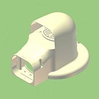 換気フランジ兼用出口カバーKF2L−75SBR茶色