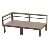 【SU】人工木ユニットデッキ 0.5坪セット BR