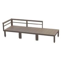 【SU】人工木ユニットデッキ 0.75坪セット BR