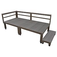 【SU】人工木ユニットデッキ 0.5坪セットステップ付 DB