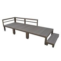 【SU】人工木ユニットデッキ 0.75坪セットステップ付 DB