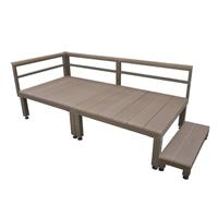 【SU】人工木ユニットデッキ 0.5坪セットステップ付 BR