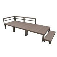 人工木ユニットデッキ 0.75坪セットステップ付 BR