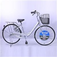 【自転車】【全国配送】《ダンロップ》軽快車 オートライト ノウム 26インチ シルバー【別送品】