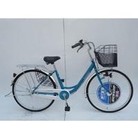 【自転車】【全国配送】《ダンロップ》軽快車 ノウム 26インチ グリーン【別送品】
