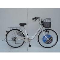 【自転車】【全国配送】《ダンロップ》軽快車 ノウム 外装6段 26インチ ホワイト【別送品】