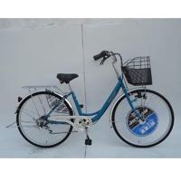 【自転車】【全国配送】《ダンロップ》軽快車 ノウム 外装6段 26インチ グリーン【別送品】