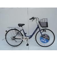 【自転車】【全国配送】《ダンロップ》軽快車 ノウム 外装6段 26インチ ブルー【別送品】