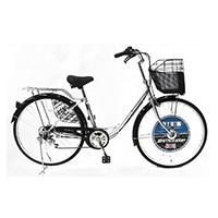 【自転車】《ダンロップ》軽快車 ダンロップ D-ブリズ 26インチ6段変速 AL シルバー