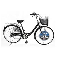 【自転車】《ダンロップ》26軽快車ダンロップD-ブリズ266AL ブラック
