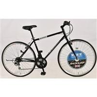 【自転車】DNP/700C クロスバイク ウェブ・ソラノ5 ブラック【別送品】