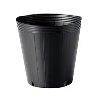 <ケース販売用単品JAN>ポリ鉢 21cm黒丸