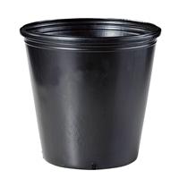<ケース販売用単品JAN>ポリ鉢 24cm黒丸