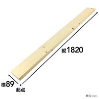【SU】SPF材 1×4 6F【別送品】