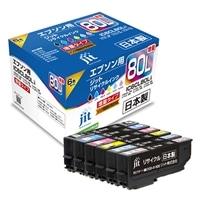 エプソン EPSON とうもろこし IC6CL80L 6色パック(増量)対応 ジットリサイクルインク