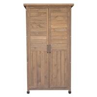 木製収納庫 大 ブラウン