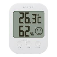 ドリテック デジタル温湿度計 オプシス ホワイト O-230