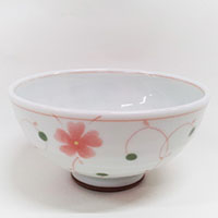 軽量茶碗 つる葵 赤