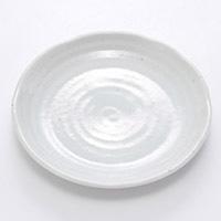 4.0皿 粉引釉 13cm