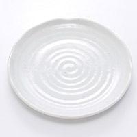 5.0皿 粉引釉 16cm