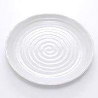 8.0皿 粉引釉 24cm