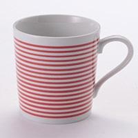 軽量マグカップ ボーダー(赤)