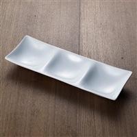 【trv・数量限定】kowake[コワケ] 3つ仕切り皿 ホワイト
