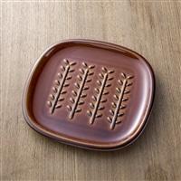 【trv】crust[クラスト] パン皿(小枝柄) ブラウン