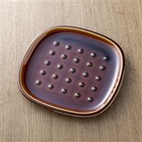 【trv・数量限定】crust[クラスト] パン皿(ドット柄) ブラウン