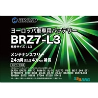 ブロード ヨーロッパ車専用バッテリー BRZ7-LN3