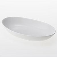 楕円皿 深型 白磁器
