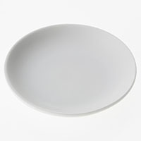 丸皿白磁 10cm