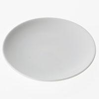 丸皿白磁 12cm