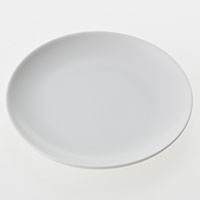 丸皿白磁 15cm