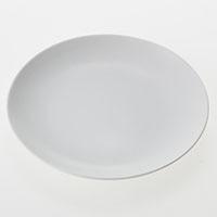 丸皿白磁 18cm